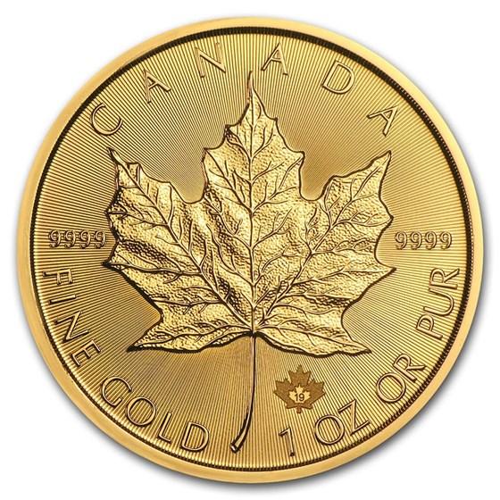 2019 Canada 1 oz Gold Maple Leaf BU