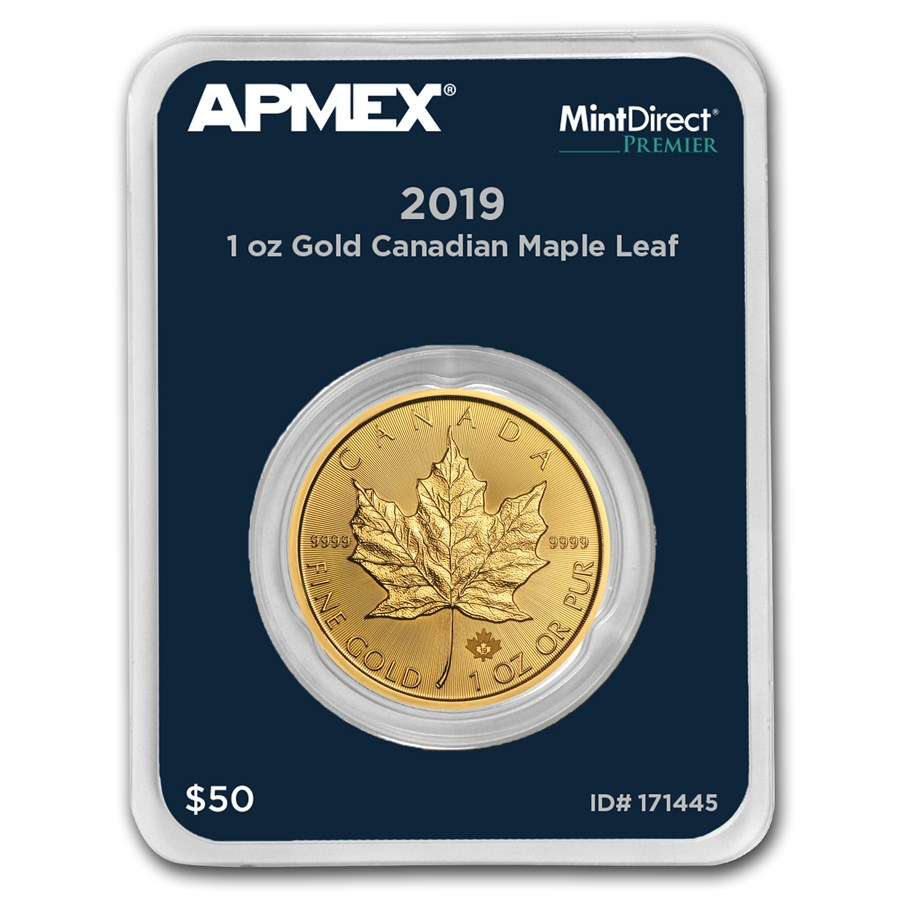 2019 Canada 1 oz Gold Maple Leaf (MintDirect® Premier Single)