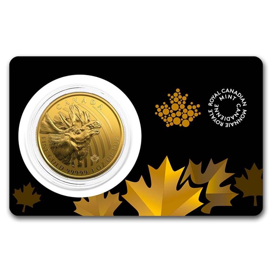 2019 Canada 1 oz Gold Moose .99999 BU (Assay Card)