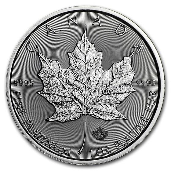 2019 Canada 1 oz Platinum Maple Leaf BU