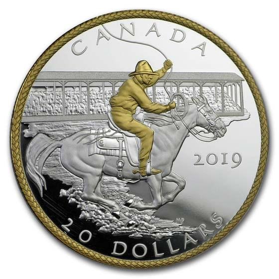 2019 Canada 1 oz Silver $20 Calgary Stampede: Victory Stampede