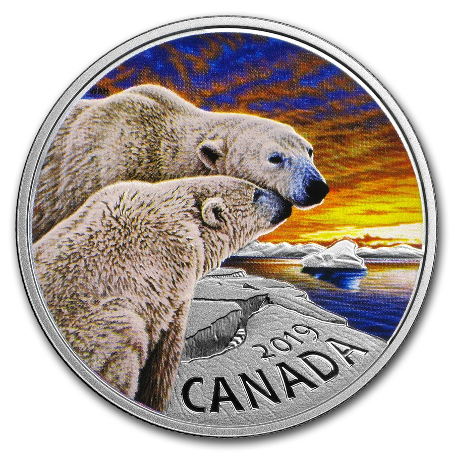 2019 Canada 1 oz Silver $20 Canadian Fauna: The Polar Bear