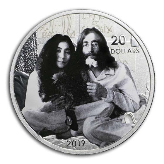 2019 Canada 1 oz Silver $20 Give Peace a Chance: John Lennon