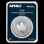 2019 Canada 1 oz Silver Incused Maple Leaf (MD® Premier Single)