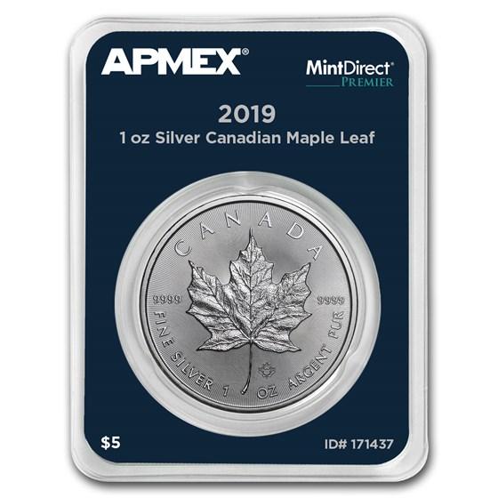 2019 Canada 1 oz Silver Maple Leaf (MintDirect® Premier Single)