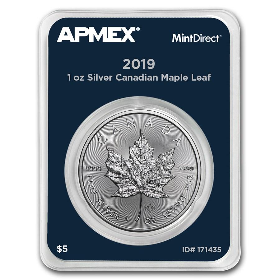 2019 Canada 1 oz Silver Maple Leaf (MintDirect® Single)