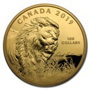 2019 Canada 10 oz Silver $100 Into the Light: Lion (Coin Only)