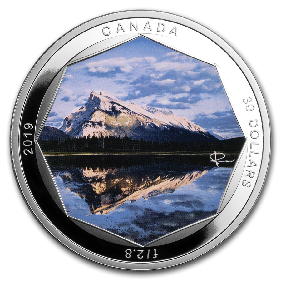 2019 Canada 2 oz Ag $30 Peter McKinnon Photo Series: Mount Rundle