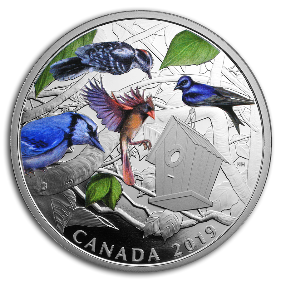 2019 Canada 2 oz Silver $30 Birds in the Backyard