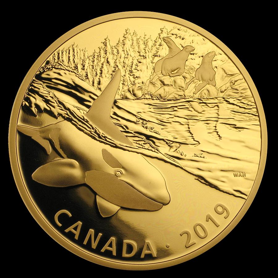 2019 Canada 2 oz Silver $30 Predator and Prey: Orca and Sea Lions