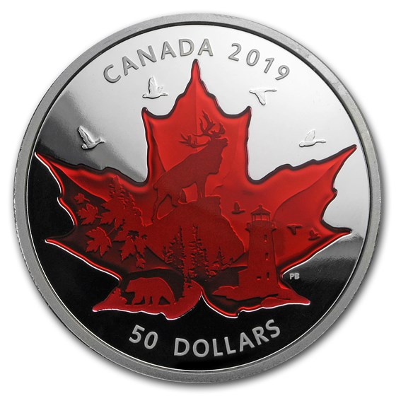 2019 Canada 5 oz Silver Celebrating Canada's Icons: Maple Leaf