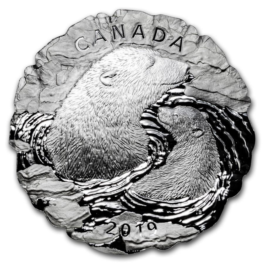 2019 Canada 5 oz Silver Polar Bears: Mother and Cub