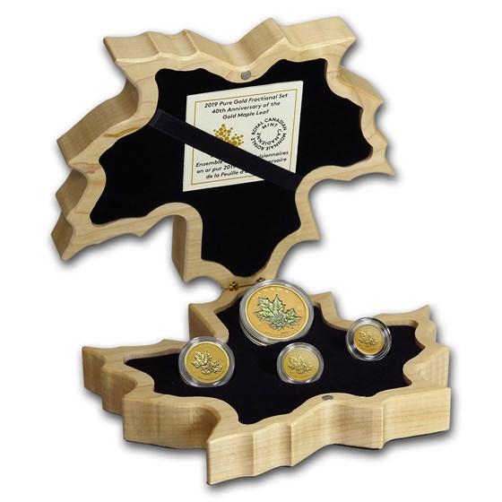 2019 Canada Gold Fractional 40th Anniv. Maple Leaf Set (1.4 oz)