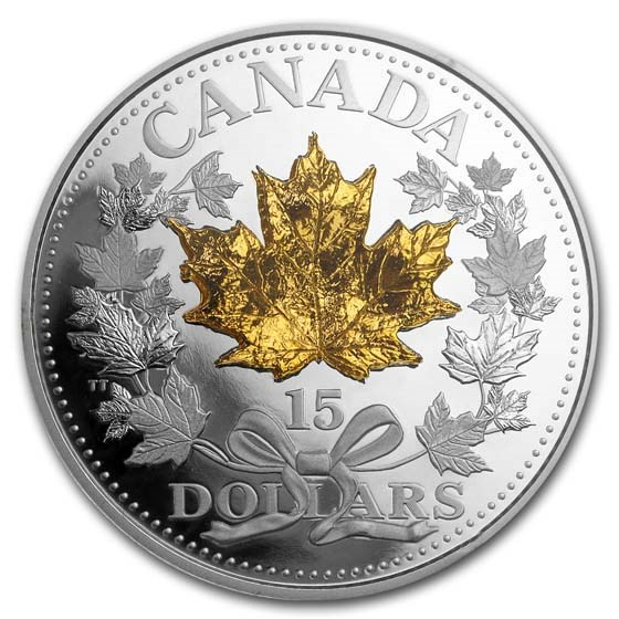 2019 Canada Silver $15 Golden Maple Leaf Proof