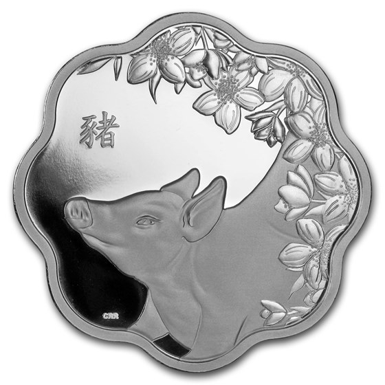 2019 Canada Silver $15 Lunar Lotus Year of the Pig Proof