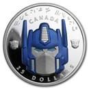 2019 Canada Silver $25 3-D Transformers™: Optimus Prime