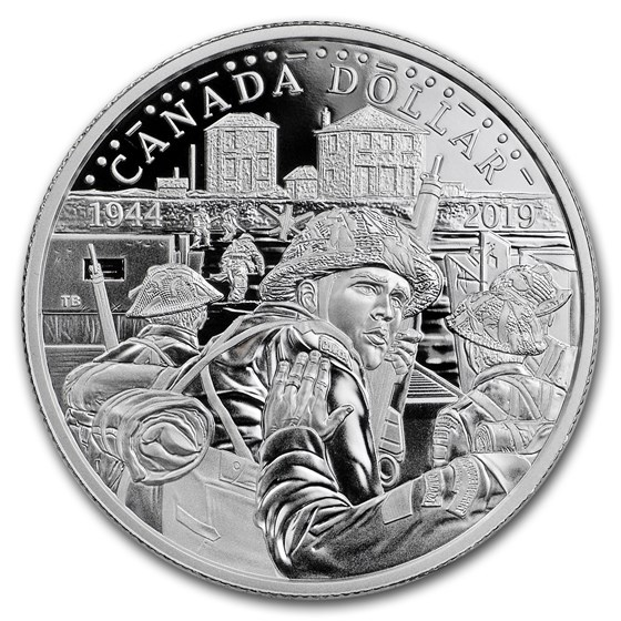 2019 Canada Silver Dollar 75th Anniversary of D-Day Proof