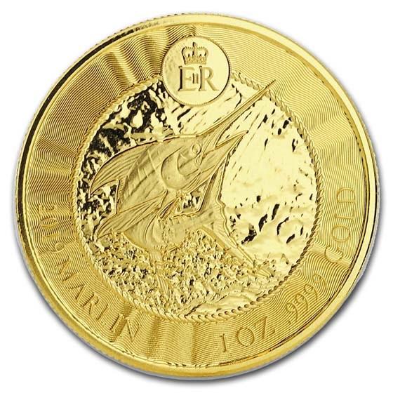 2019 Cayman Islands 1 oz Gold Marlin BU