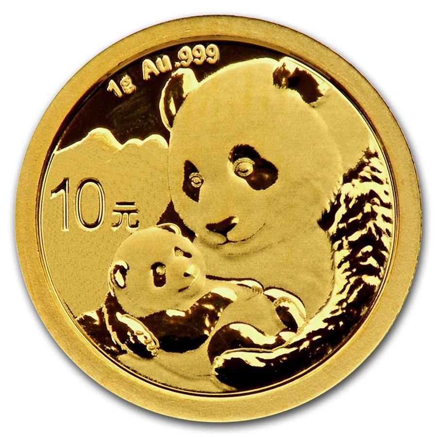 2019 China 1 gram Gold Panda BU (Sealed)