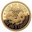 2019 China 1 oz Gold Kiangnan Dragon Dollar Restrike (PU)