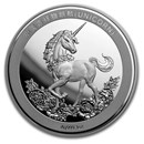 2019 China 1 oz Silver Unicorn 25th Anniversary Restrike (PU)