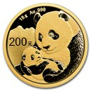 2019 China 15 gram Gold Panda BU (Sealed)