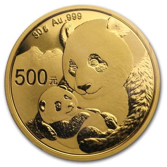 2019 China 30 gram Gold Panda BU (Sealed)