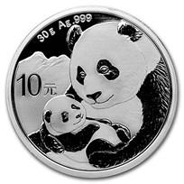 2019 China 30 gram Silver Panda BU (In Capsule)