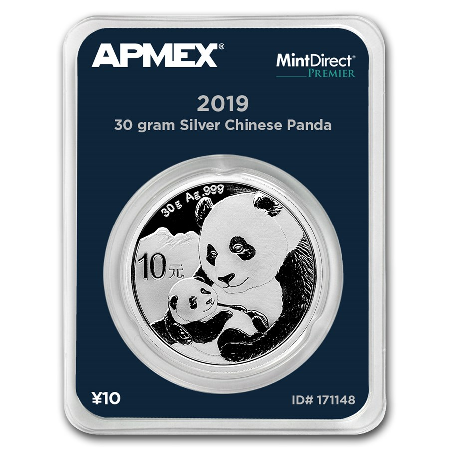 2019 China 30 gram Silver Panda (MintDirect® Premier Single)