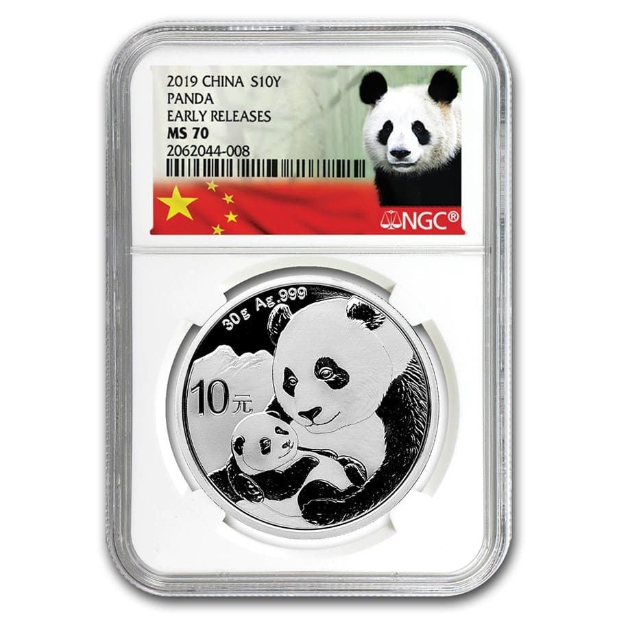 2019 China 30 gram Silver Panda MS-70 NGC (Early Releases)