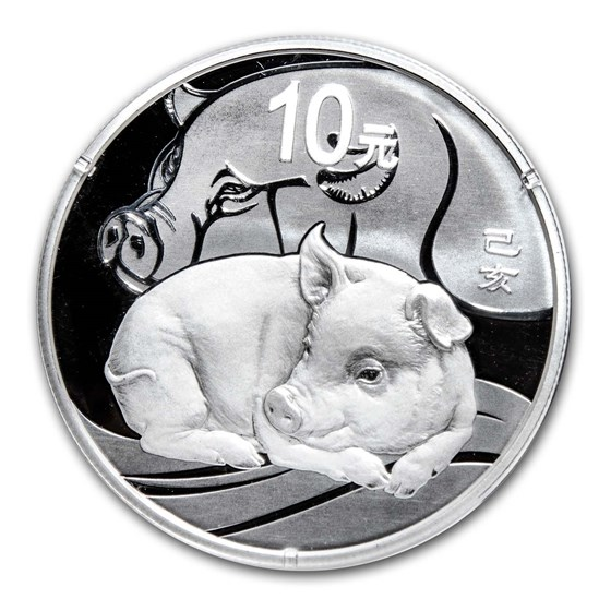 2019 China 30 gram Silver Pig Proof (w/Box & COA)