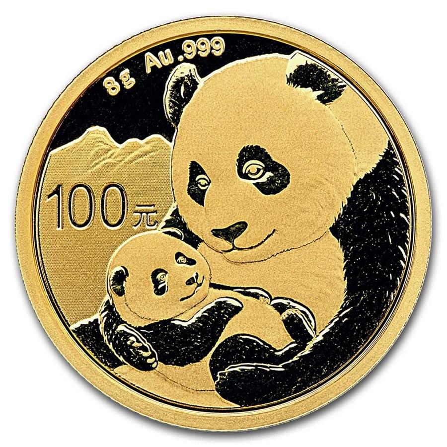 2019 China 8 gram Gold Panda BU (Sealed)