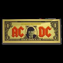 2019 Cook Islands 1/10 gram Gold AC/DC Foil Gold Note