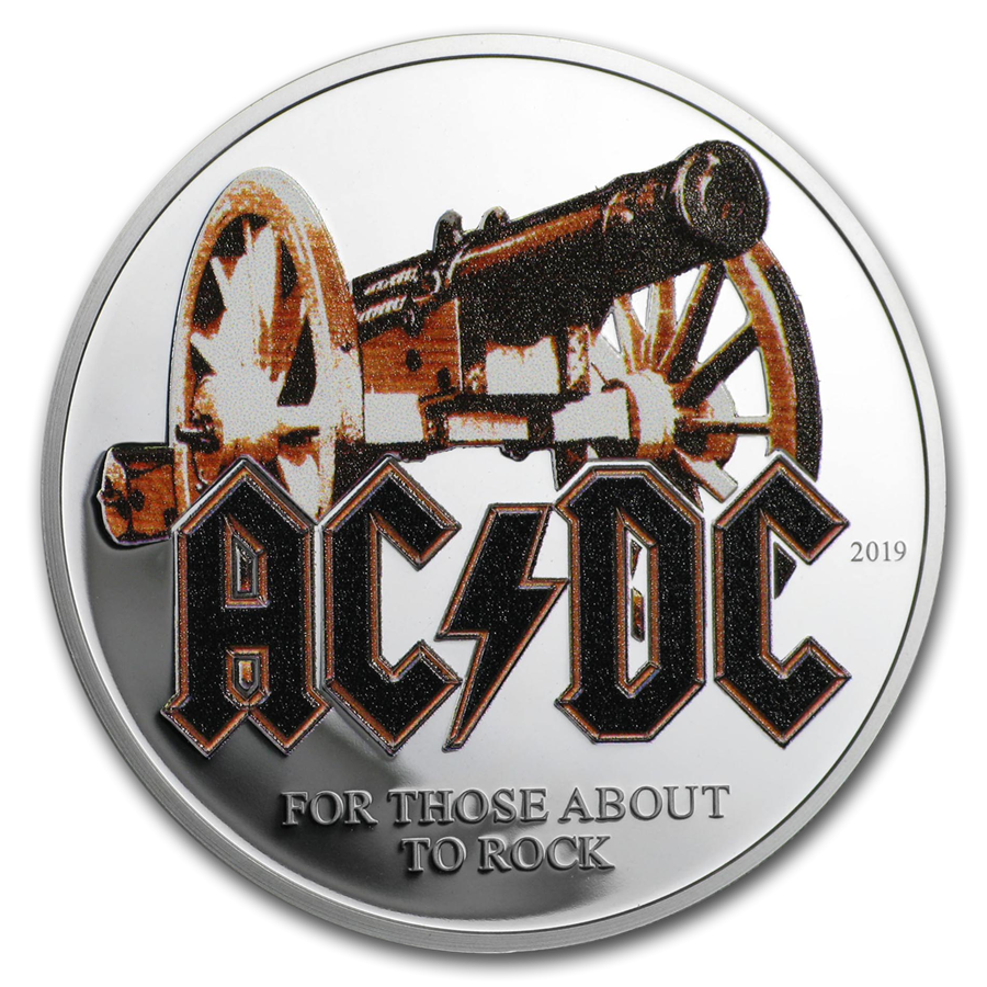 2019 Cook Islands 1/2 oz Silver AC/DC For Those About to Rock