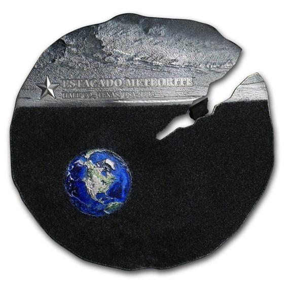 2019 Cook Islands 1/2 oz Silver Estacado Meteorite Strike