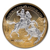 2019 Cook Islands 1 kilo Silver Shades of Glory: St. George