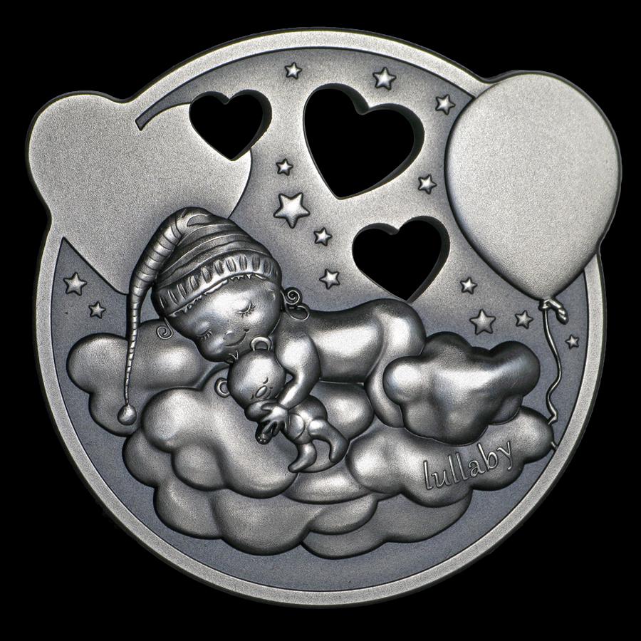2019 Cook Islands 1 oz Antique Silver Lullaby Little Princess