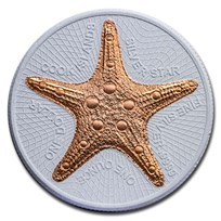 2019 Cook Islands 1 oz Silver CeCo Edition: Starfish BU