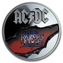 2019 Cook Islands 2 oz Silver AC/DC The Razor's Edge Black Proof