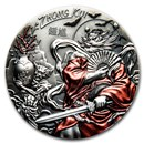 2019 Cook Islands 3 oz Antique Silver Asian Mythology: Zhong Kui