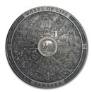 2019 Cook Islands 3 oz Antique Silver Samsara Wheel of Life