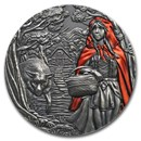 2019 Cook Islands 3 oz Silver Fairy Tales: Little Red Riding Hood