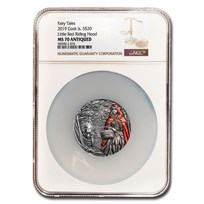 2019 Cook Islands 3 oz Silver Little Red Riding Hood MS-70 NGC
