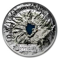 2019 Cook Islands 5 oz Silver The Land of Korea (Baekdusan)