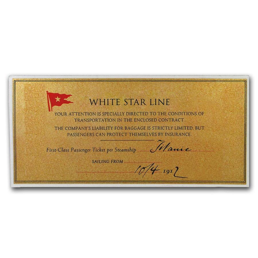 2019 Cook Islands Titanic Rose Foil Silver Note
