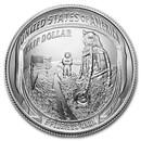 2019-D Apollo 11 50th Anniversary 1/2 Dollar BU (Box & COA)