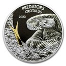 2019 Dem. Republic of Congo 1 oz Silver Rattlesnake (w/Color)