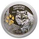 2019 Dem.Republic of Congo 1 oz Silver Wolf (Colorized)