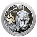 2019 Democratic Republic of Congo 1 oz Silver Panther with Color