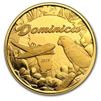 2019 Dominica 1 oz Gold Sisserou Parrot BU